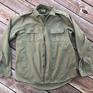 Vintage 1980s Army button down shirt